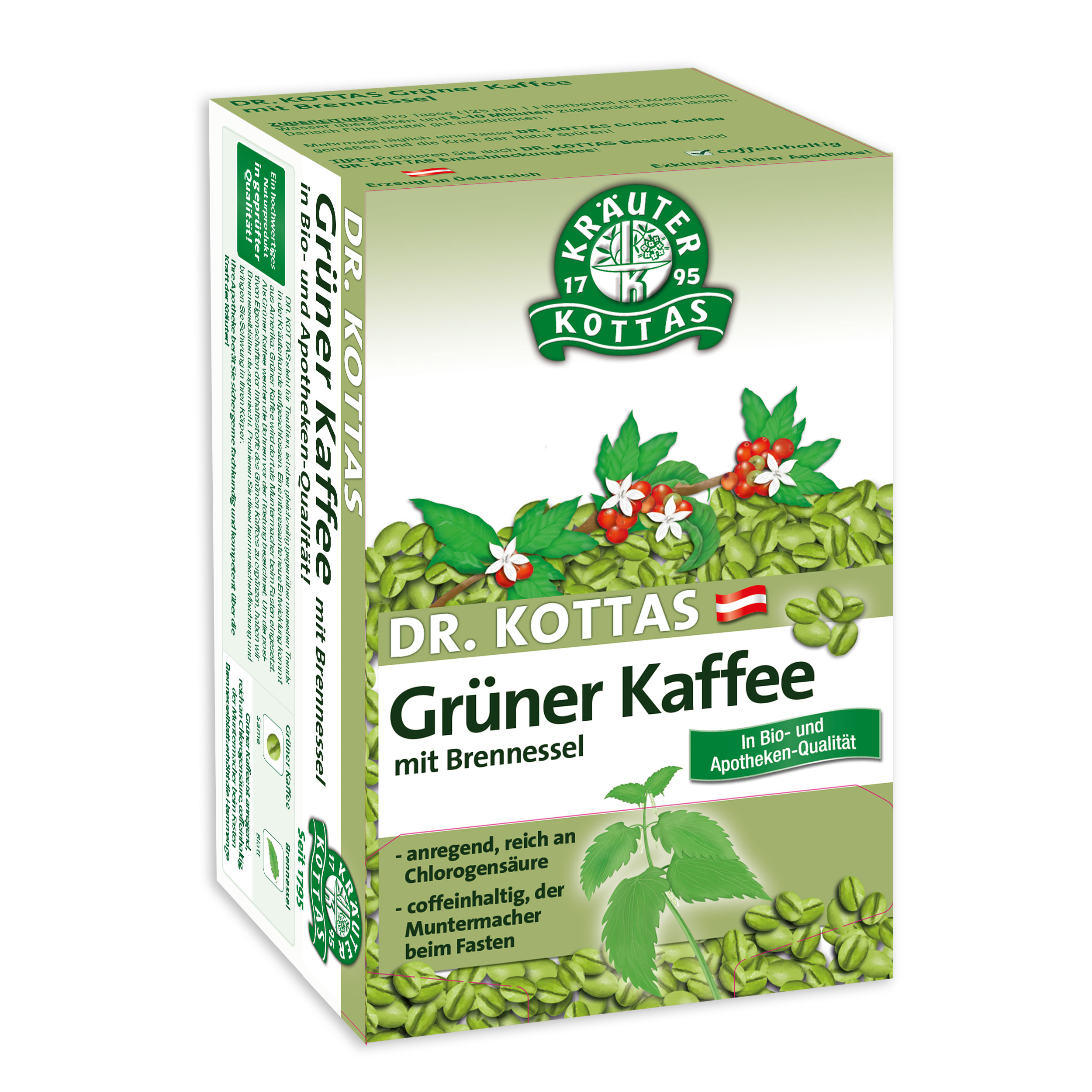 Grüner Kaffee Mit Ingwer dr kottas grüner kaffee mit brennessel